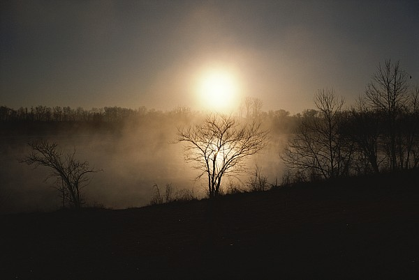 North America Photograph - Twilight View Of Fog Over The Tennessee by Sam Abell