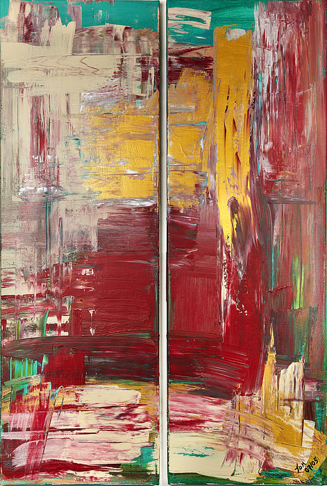 Abstract Art Painting - Twin by Thomas Kleiner