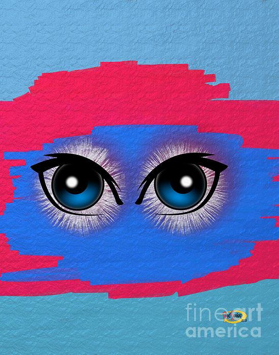 Digital Painting Digital Art - Two Eyes by Rod Seeley