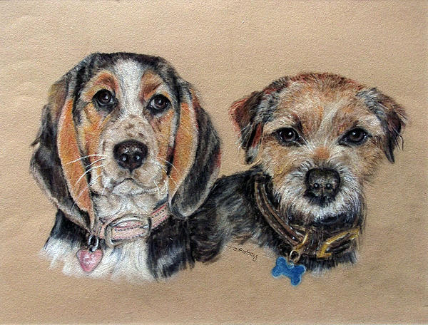 Dogs Painting - Two Friends by Tanya Patey