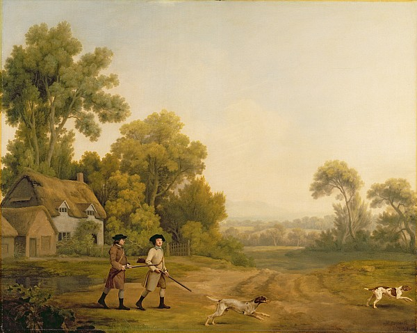 Two Painting - Two Gentlemen Going A Shooting by George Stubbs