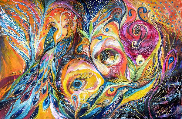 Original Painting - Under Olive Tree by Elena Kotliarker