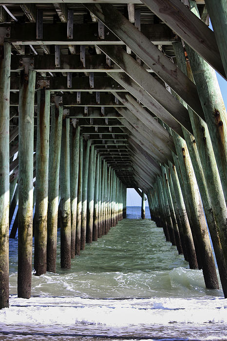 Sunlight Photograph - Under The Pier by Teresa Mucha