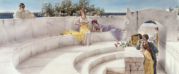 Under Painting - Under The Roof Of Blue Ionian Weather by Sir Lawrence Alma-Tadema
