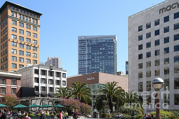 San Francisco Photograph - Union Square San Francisco by Wingsdomain Art and Photography