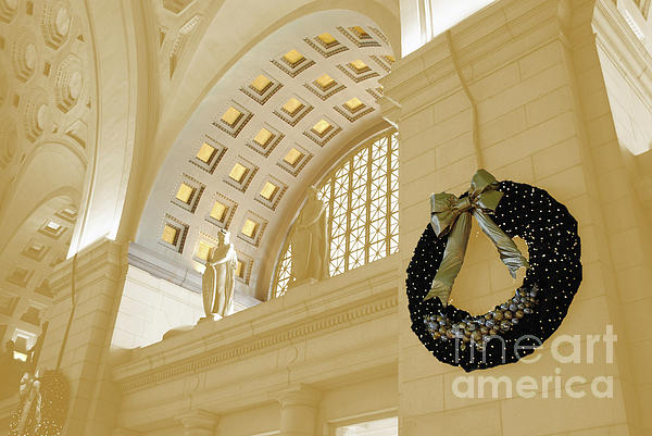Union Photograph - Union Station Holiday by Jost Houk