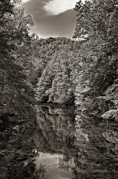 West Virginia Photograph - Up The Lazy River Monochrome by Steve Harrington