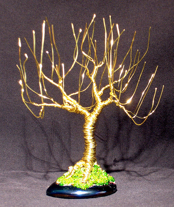 Sculpture Sculpture - Upright Willow - Wire Tree by Sal Villano