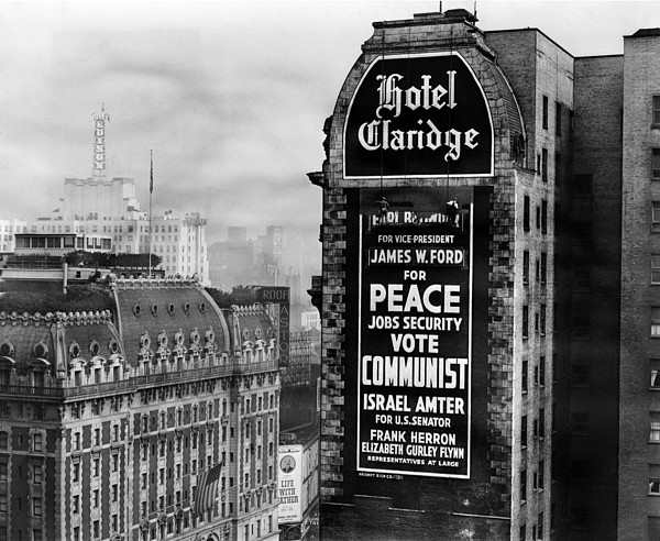 History Photograph - Us Communist Election Campaign Sign by Everett