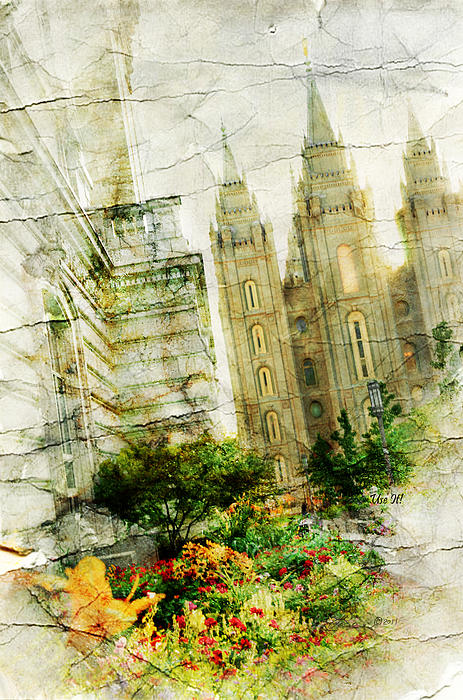 Temples Photograph - Use It Slc by La Rae  Roberts