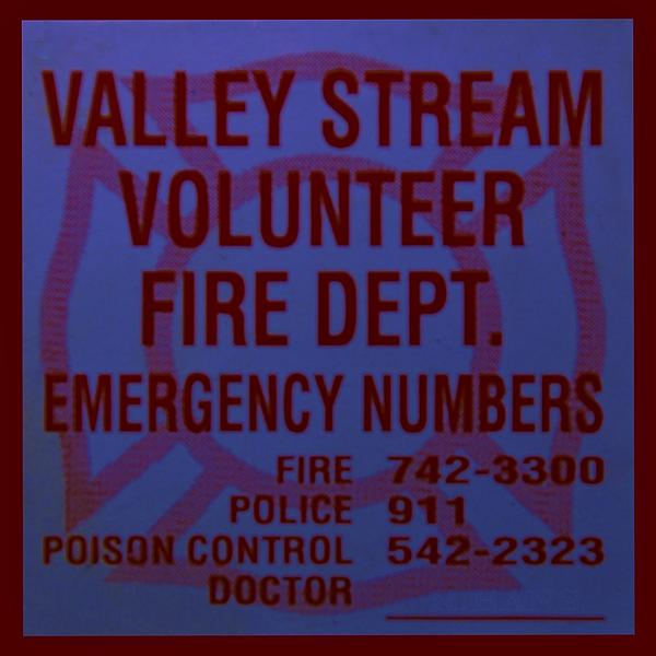 Maltese Cross Photograph - Valley Stream Fire Department In Blue by Rob Hans
