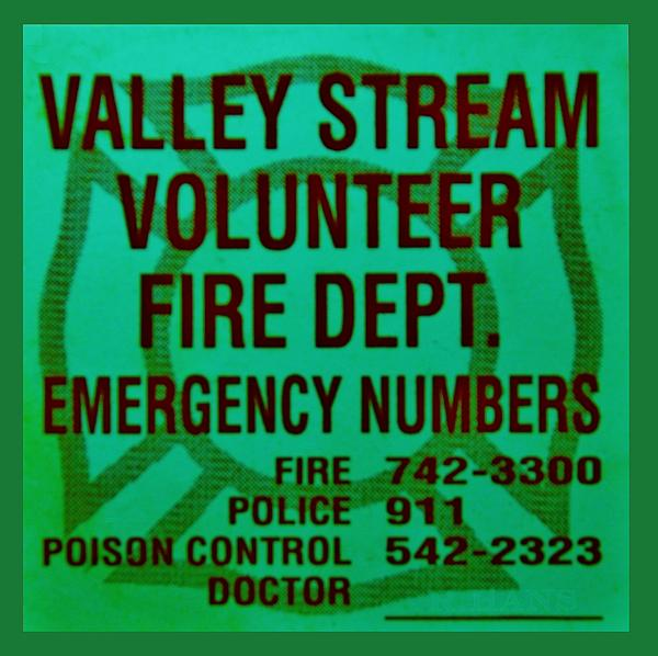 Maltese Cross Photograph - Valley Stream Fire Department In Irish Green by Rob Hans