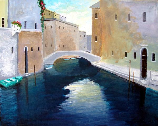 Amalfi Coast Painting - Venice Water Dance  by Larry Cirigliano