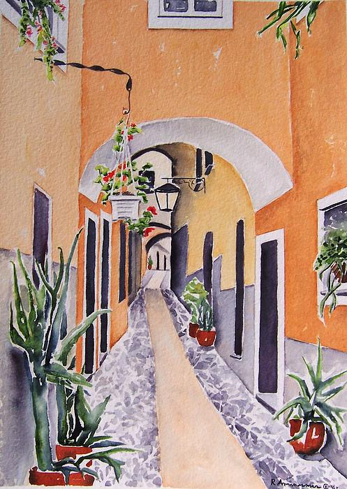 Architecture Painting - Via Grimaldi Saleri by Regina Ammerman