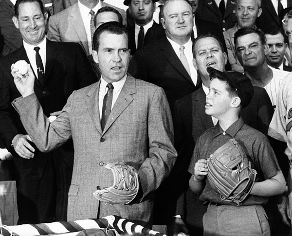 History Photograph - Vice President Nixon Officially Opens by Everett