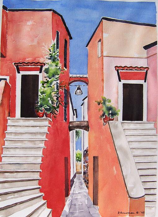 Italian Villlage Painting - Vico Giardini by Regina Ammerman