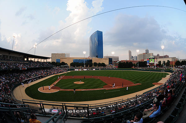 Indy Skyline Photograph - Victory Field Home Of The Indianapolis Indians by Rob Banayote