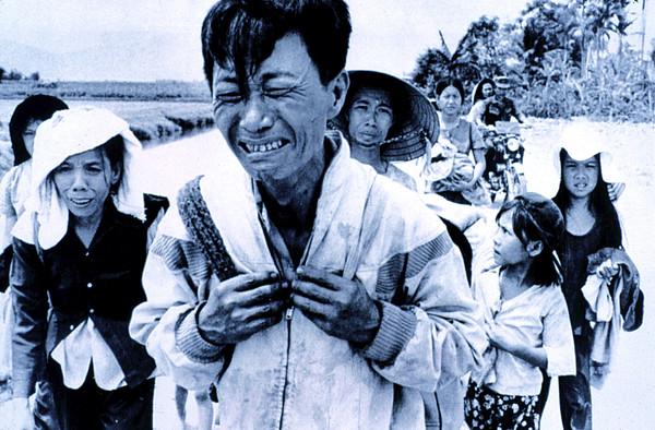 1970s Photograph - Vietnam War A Head Of Family Weeps by Everett