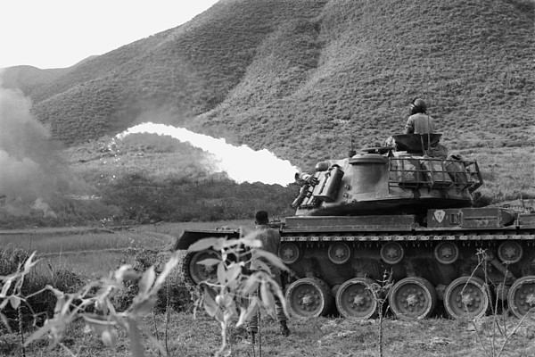 History Photograph - Vietnam War. Us Marine Corps Flame by Everett