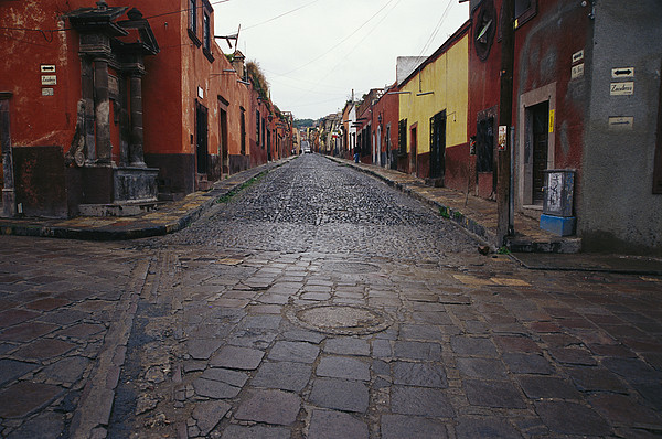 North America Photograph - View Of Cobblestone Streets In San by Gina Martin