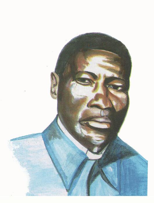 Portraits Painting - Vincent Mulago by Emmanuel Baliyanga