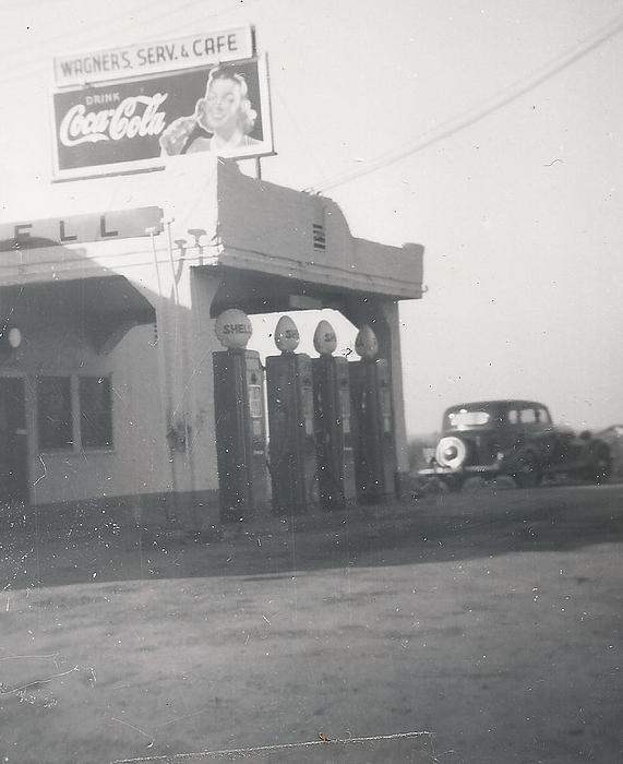 Digitized Photograph - Vintage Coca Cola And Gas by Alan Espasandin