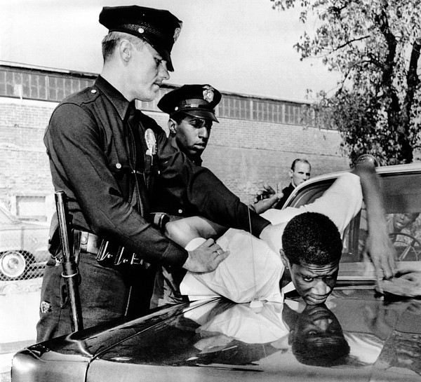 History Photograph - Violence In Los Angeles Street. Police by Everett