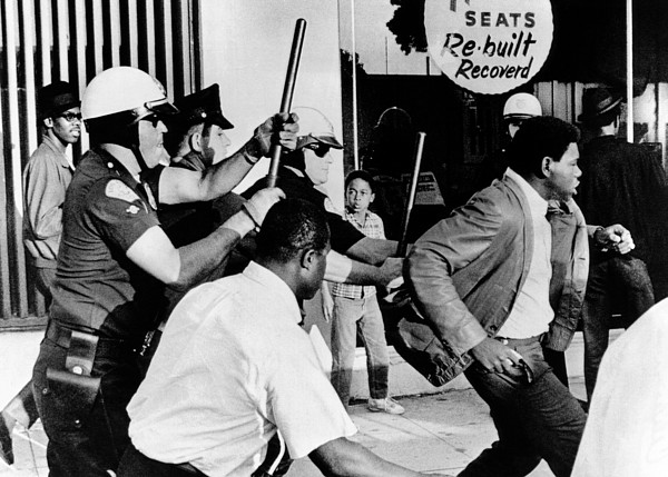 History Photograph - Violence On South Los Angeles Street by Everett