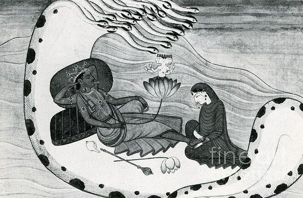 Vishnu Photograph - Vishnu And Lakshmi by Photo Researchers