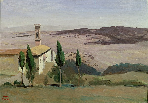 Volterra Painting - Volterra by Jean Baptiste Camille Corot