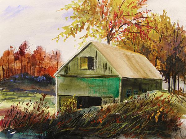 Barn Painting - Warm Mood by John Williams