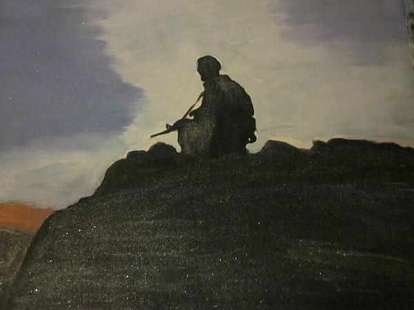 Soldier Painting - Watching Over Us by David Poyant