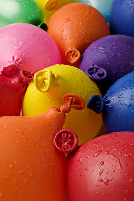 Balloon Photograph - Water Balloons by Garry Gay