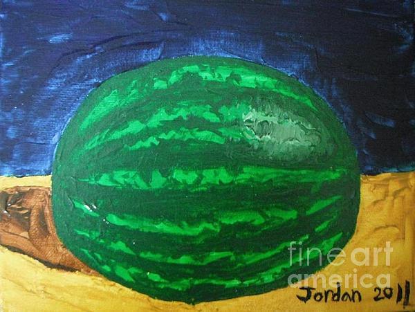 Artwork Painting - Watermelon Still Life by Jeannie Atwater Jordan Allen
