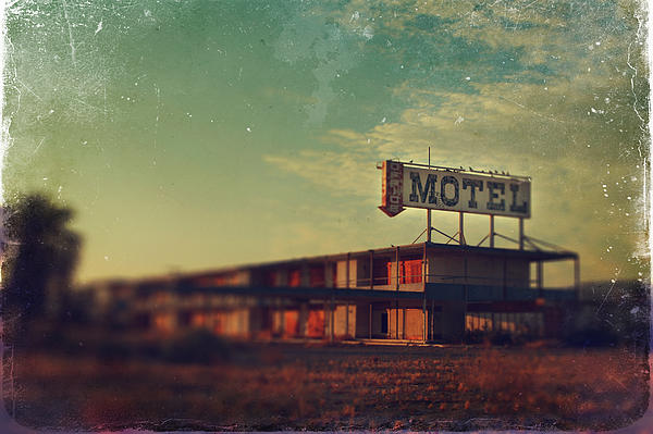 Motel Photograph - We Met At The Old Motel by Laurie Search