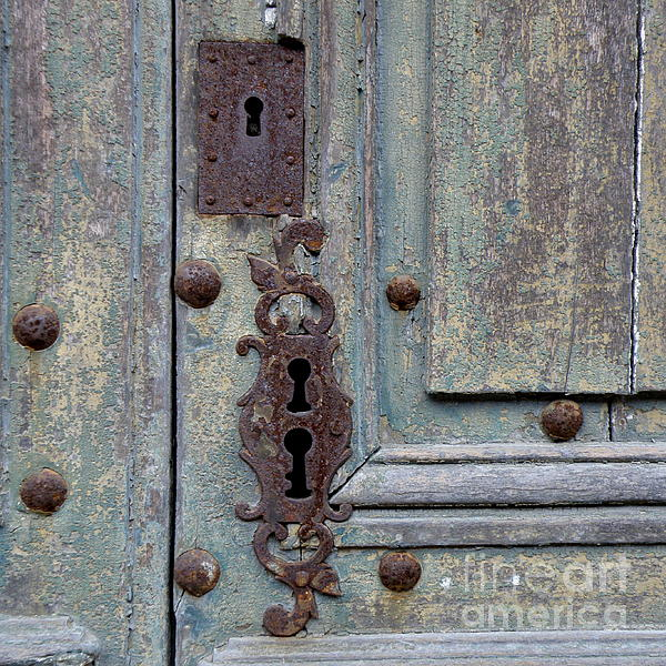 Door Photograph - Weathered by Lainie Wrightson