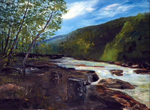 Elk River Painting - Webster Springs Stream by Phil Burton