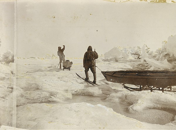 Two People Photograph - When The Fram Did Not Reach The North by Fridtjof Nansen