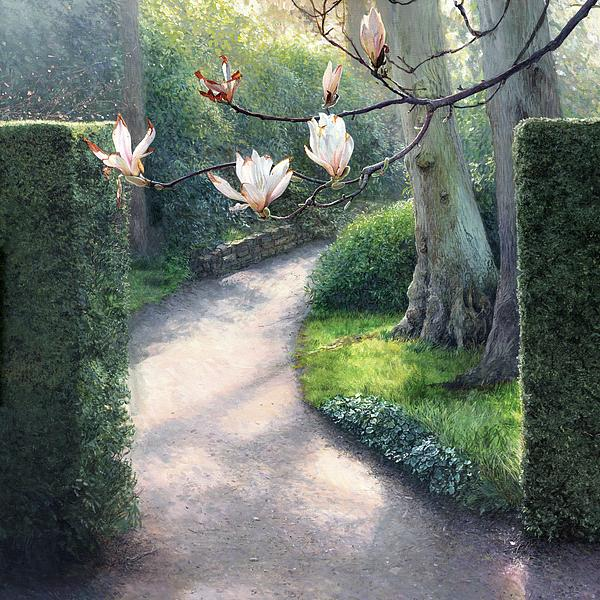 Rose Painting - Where I Fell In Love by Helen Parsley