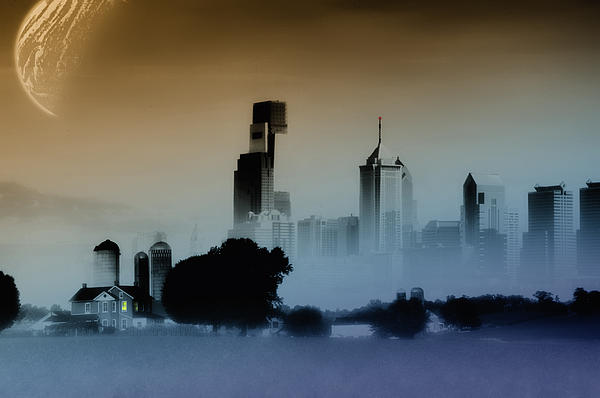 Philadelphia Digital Art - While The City Sleeps by Bill Cannon