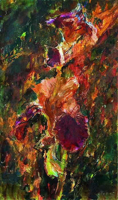 Iris Painting - Whirlpool by Petro Bevza