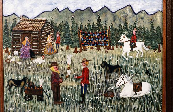 Whiskey Painting - Whiskey Traders by Carol Shumas