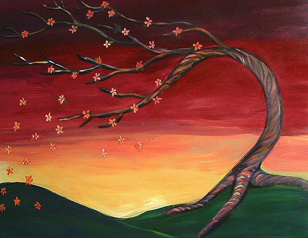 Autumn Painting - Whispering Autumn Tree by Astrid Padilla