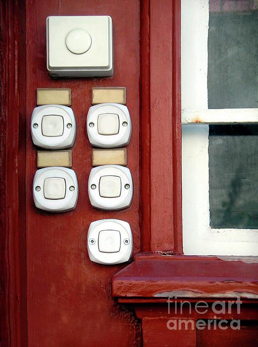 Bells Photograph - White Doorbells by Carlos Caetano