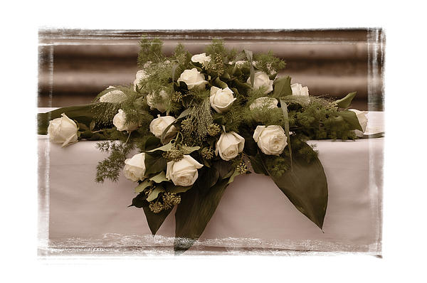 White Photograph - White Roses For The Wedding by Mary Machare