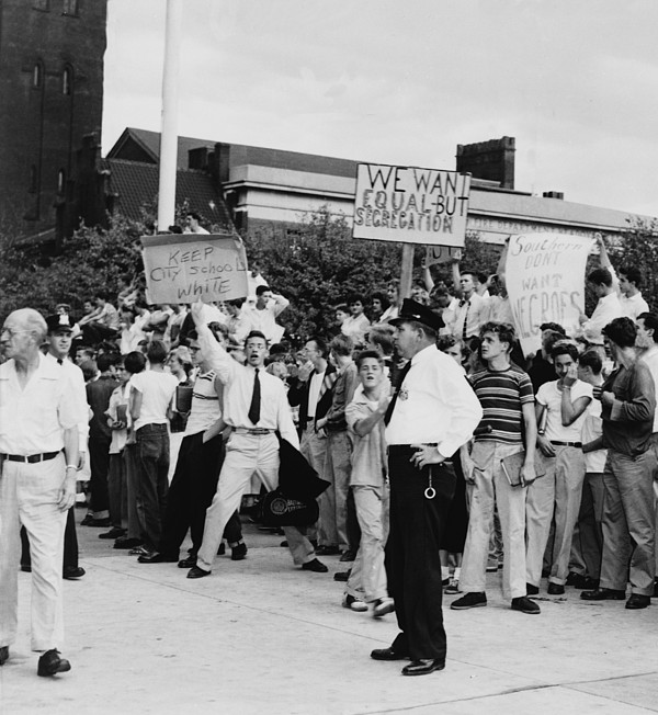 History Photograph - White Teen-agers At Baltimores City by Everett
