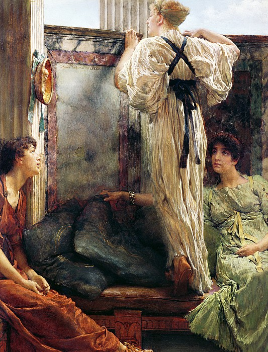 Who Is It? Painting - Who Is It by Sir Lawrence Alma-Tadema