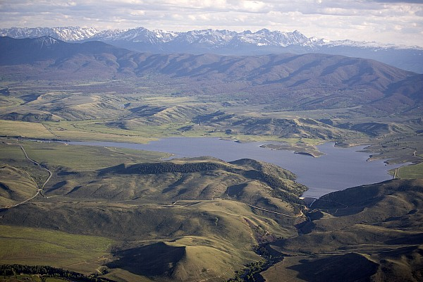 Colorado Photograph - Williams Fork Reservoir Provides Water by Michael S. Lewis