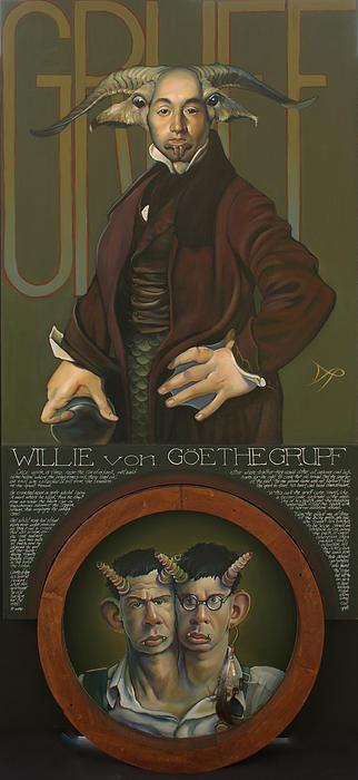 Goat Painting - Willie Von Goethegrupf by Patrick Anthony Pierson
