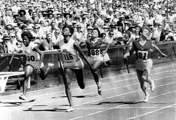 1960s Candids Photograph - Wilma Rudolph, Winning The Womens by Everett